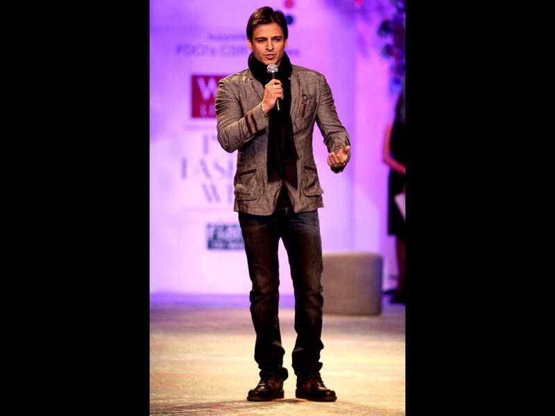Vivek Oberoi came to WIFW to spread awareness against human trafficking.