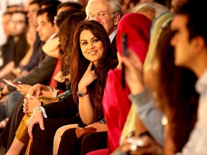 Mahima Chaudhary graced the front row for designer Manish Malhotra.