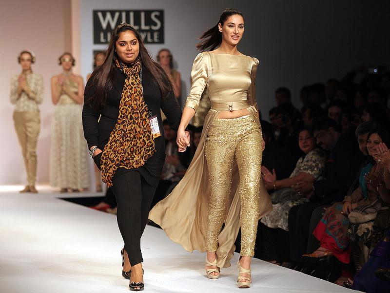 Sakshee Pradhan made her debut at the WIFW.