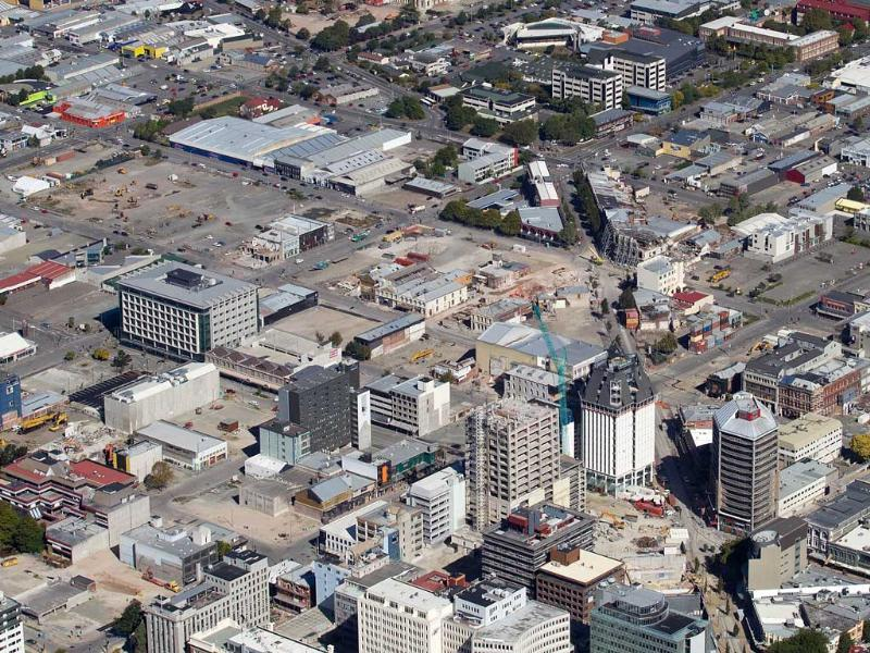 The Red Zone in the Christchurch CBD shows the buildings that have been removed after being damaged by the February 22, 2011 earthquake, nearly one year after a 6.3 quake hit New Zealand's second largest city, killing 185 people, flattening office blocks, buckling roads and bringing historic buildings crashing down. AFP/Marty Melville