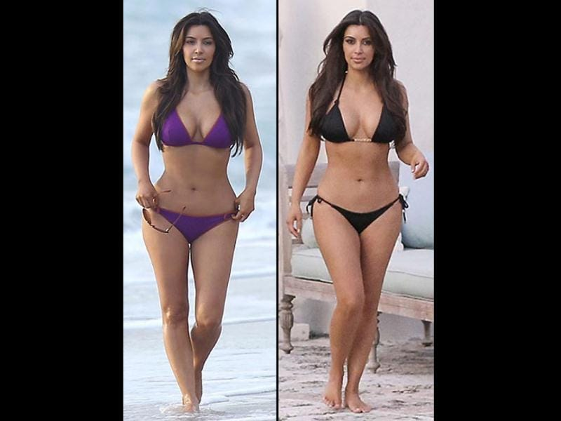 From going topless for her fashion line to tweeting her lingerie pics or even inviting fans to her racy photoshoots, Kim Kardashian has done it all. Recently, she flaunted her voluptuous figure while holidaying in Miami.