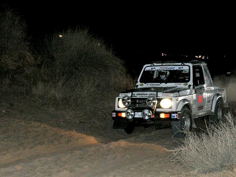 Suresh Rana leads after the opening leg of the 10th edition of the Desert Storm. HT Photo/Vinayak Pande