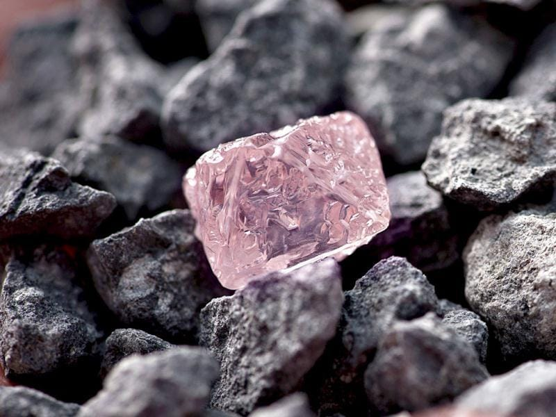 The 12.76 carat pink diamond, Argyle Pink Jubilee, the largest of the rare and precious stones ever found at Rio's pink diamond operations in the Kimberley region of western Australia, would take 10 days to cut and polish in Perth. AFP/Rio Tinto