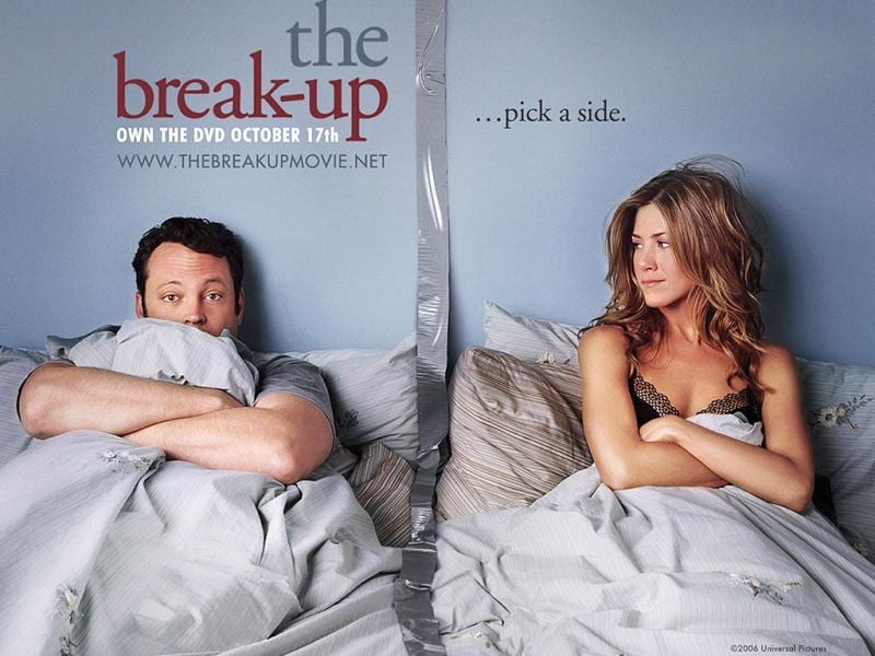 The Break Up was Aniston's film on relationships with Vince Vaughn, which became a box-office hit.