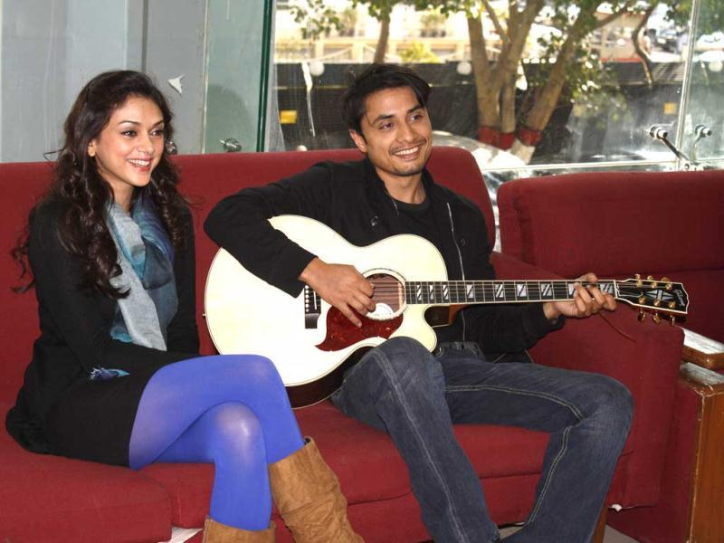 London Paris New York actors Ali Zafar and Aditi Rao Hydari visited HT House recently. Here's a look at the images.