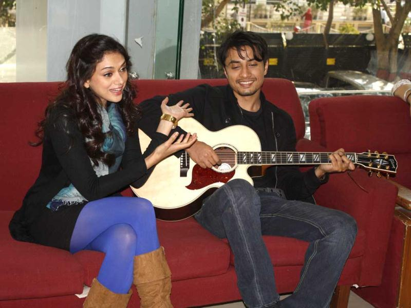 Actors Ali Zafar and Aditi Rao Hydari share a great bond and it was clearly evident when the duo visited the HT City office in the Capital.