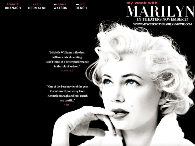 My Week with Marilyn has been nominated for Best Actress (Michelle Williams) and Best Supporting Actor (Kenneth Brannagh).