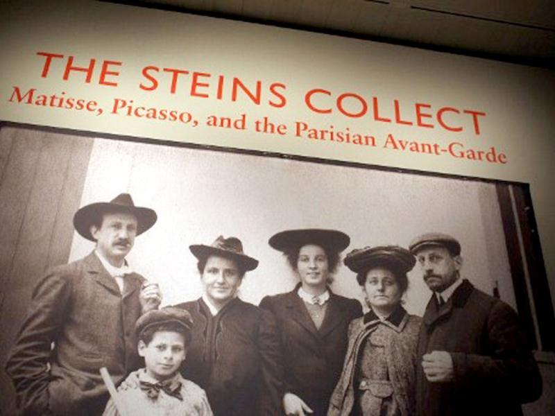 A family portrait is displayed at the preview of 'The Steins Collect: Matisse, Picasso, and the Parisian Avant-Garde' at the Metropolitan Museum of Art in New York City. The exhibition focuses on the collections of Gertrude Stein and her brothers, Leo and Michael and Michael's wife, Sarah; features works by Paul Cezanne, Edgar Degas, Paul Gauguin, Henri de Toulouse-Lautrec, Edouard Manet, and Auguste Renoir. Spencer Platt/Getty Images/AFP