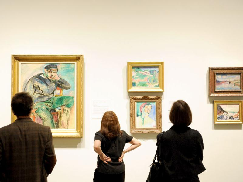 People view paintings by Henri Matisse during a preview of 'The Steins Collect: Matisse, Picasso, and the Parisian Avant-Garde' at the Metropolitan Museum of Art in New York. AFP/Stan Honda