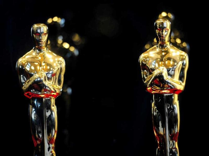 Oscar statuettes on display during the opening of the