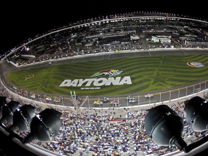 Drivers take the green flag to begin the NASCAR Camping World Series NextEra Energy Resources 250 truck race at the Daytona International Speedway in Daytona Beach, Florida. (Reuters)