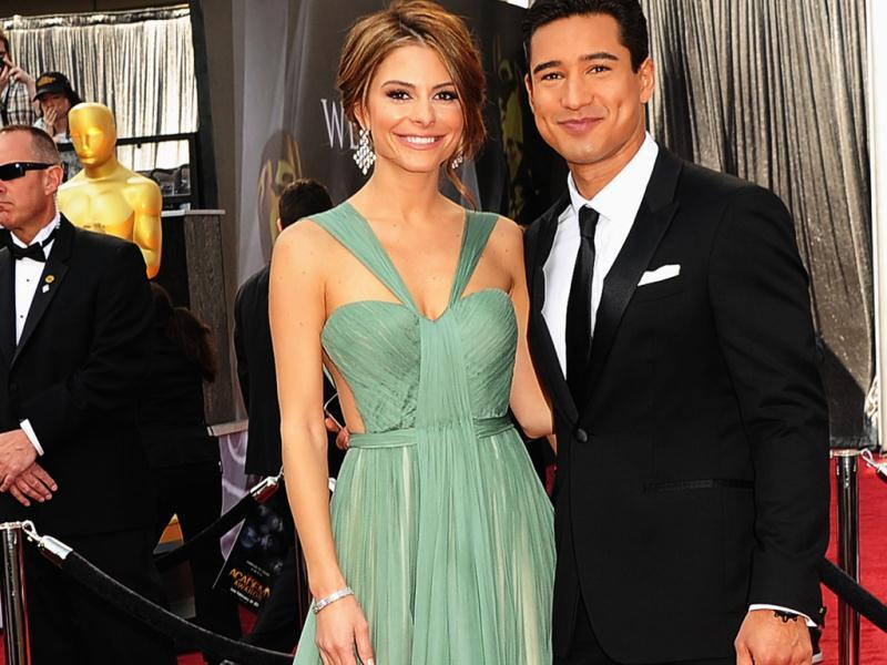 TV personalities Maria Menounos and Mario Lopez arrive at the 84th Annual Academy Awards held at the Hollywood Highland Center.