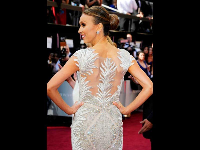TV personality Giuliana Rancic arrives at the 84th Annual Academy Awards held at the Hollywood Highland Center.