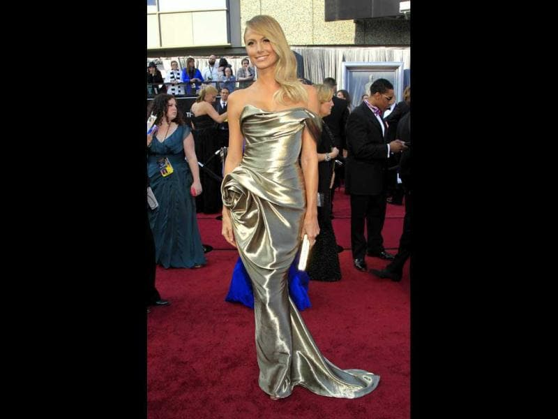 Actress Stacy Keibler arrives at the 84th Academy Awards in Hollywood.