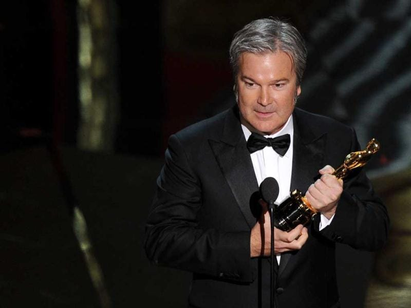Winner for Best Animated Feature Film Rango Gore Verbinski addresses the audience onstage at the 84th Annual Academy Awards on February 26, 2012 in Hollywood, California. (AFP)