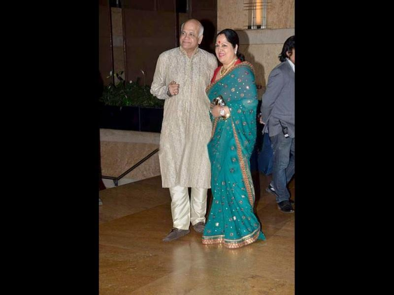 Shilpa Shetty's parents at the sangeet ceremony.