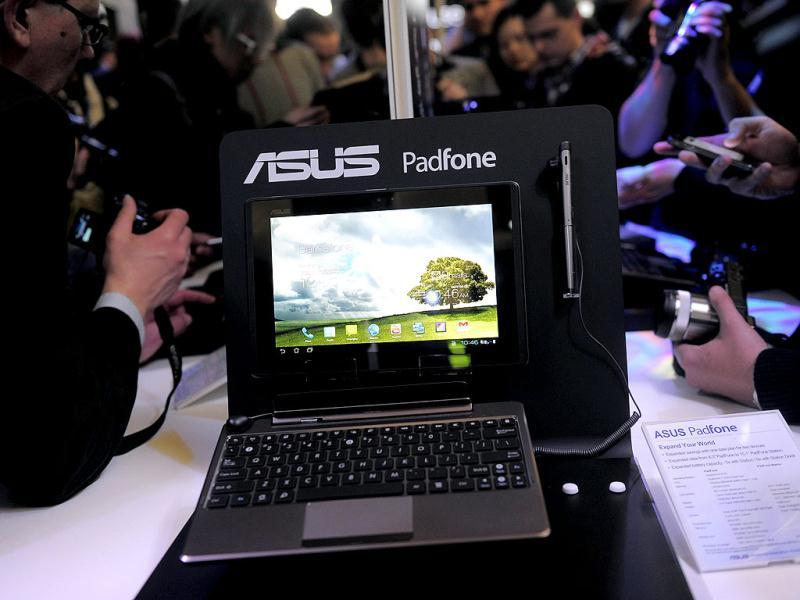 An Asus Padphone is pictured during its presentation in Barcelona on the opening day of the Mobile World congress. The 2012 Mobile World Congress, the world's biggest mobile fair, will be held from February 27 to March 1 in Barcelona. AFP/Josep Lago