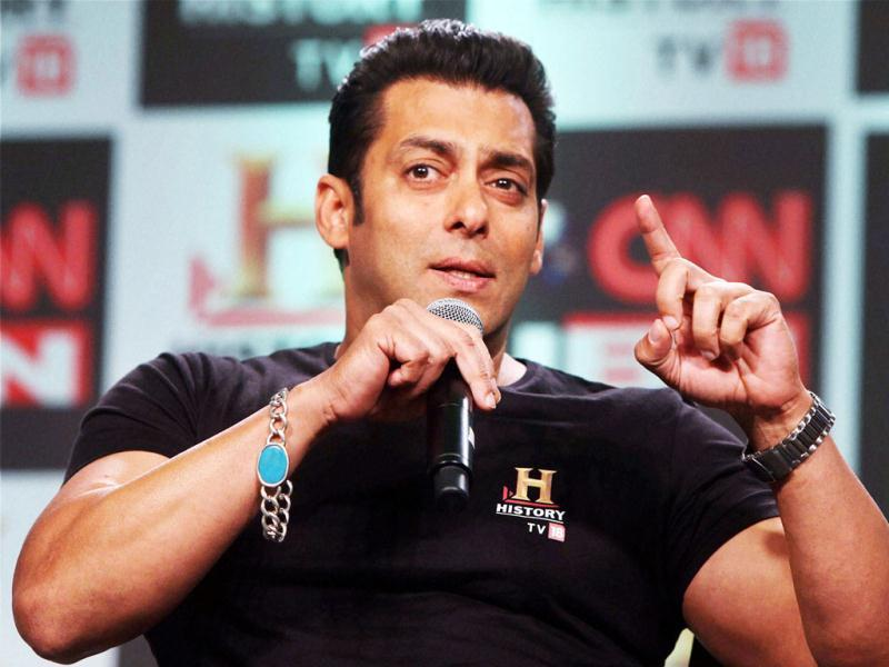 Salman Khan interacts at the event.