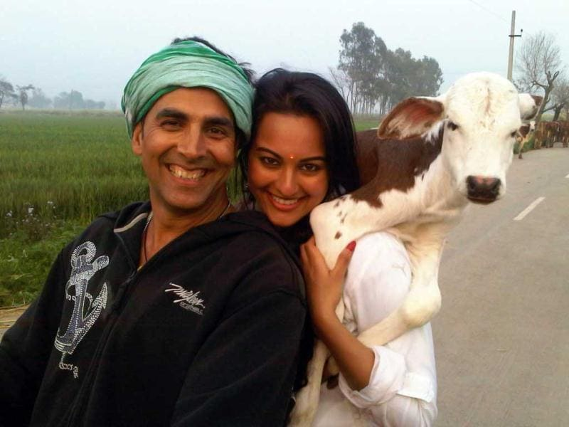 Akshay Kumar and Sonakshi Sinha are paired together in not one but two films- Prabhu Deva's Rowdy Rathore (action) and Shirish Kunder's Joker (fantasy-adventure).