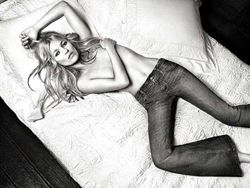 Kate Moss goes topless in the latest photoshoot for the Spring/Summer campaign for Italian clothing range Lui Jo.