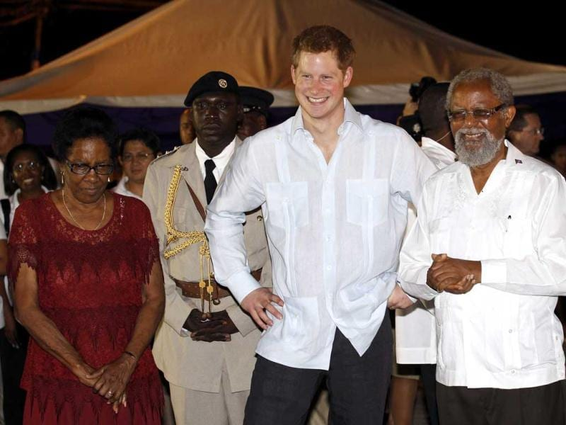 Britain's Prince Harry attends a street party in Belmopan, Belize. The Prince is on a week-long tour through Central America and the Caribbean acting as an ambassador for Britain's Queen Elizabeth as part of her Diamond Jubilee. Reuters/Suzanne Plunkett