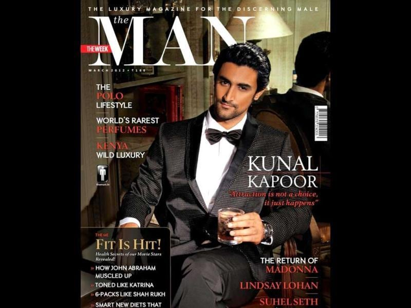 Actor Kunal Kapoor on The Man's cover.