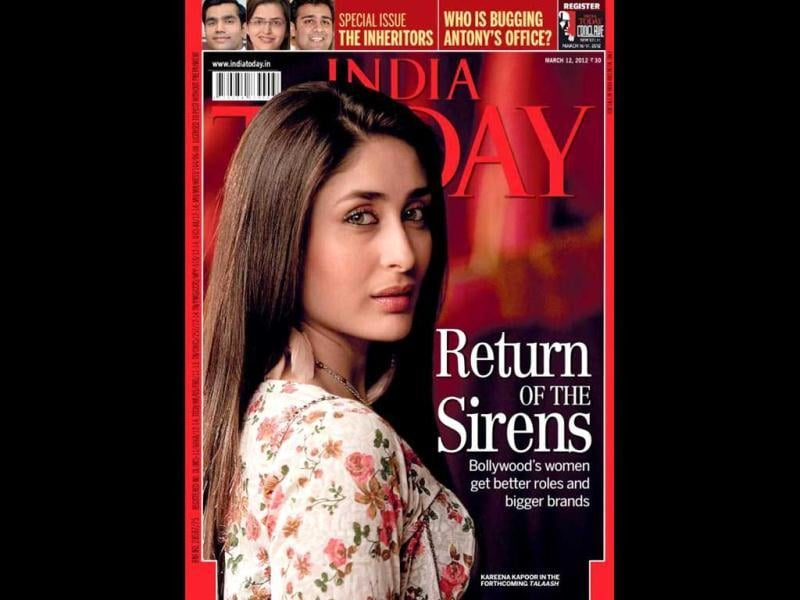 Kareena Kapoor on India Today's cover page.