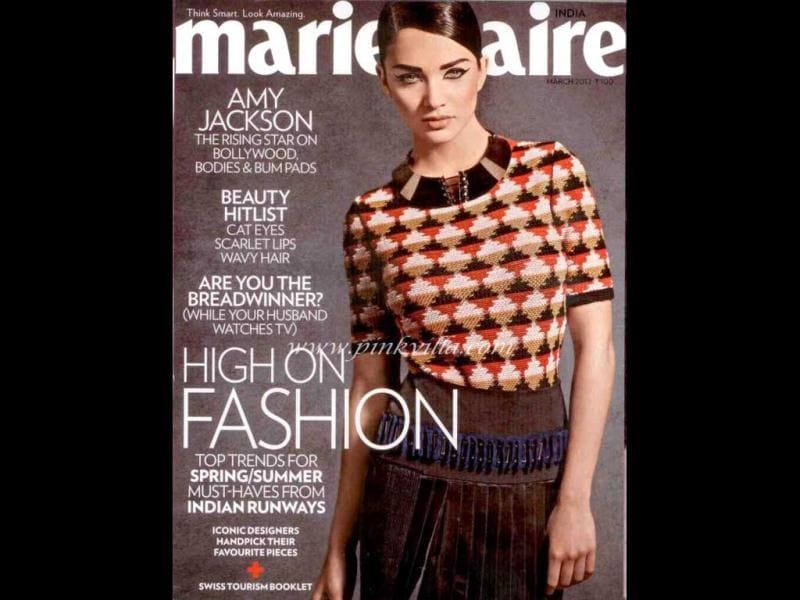 Amy Jackson looks chic on Marie Claire's cover.