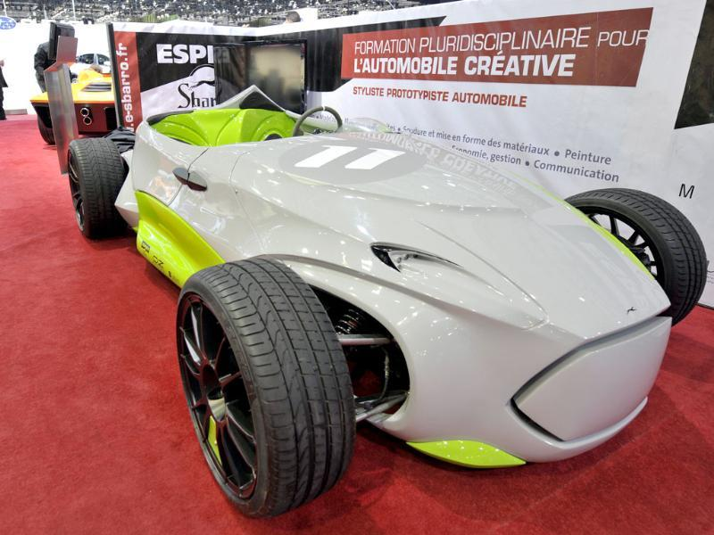 The new Sbarro Montbeliard Charger car is shown during the press day at the Geneva International Motor Show. AP Photo/Keystone, Martial Trezzini