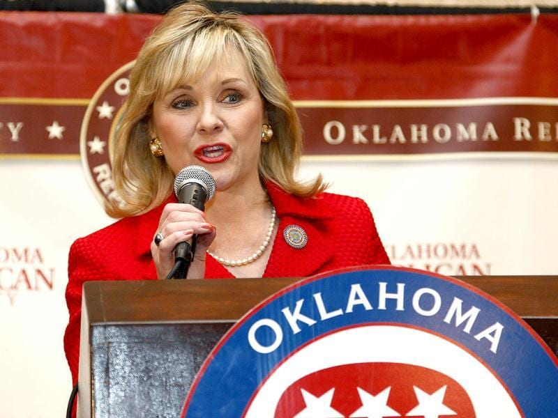 Oklahoma governor Mary Fallin addresses a Republican watch party in Oklahoma City. AP/Sue Ogrocki