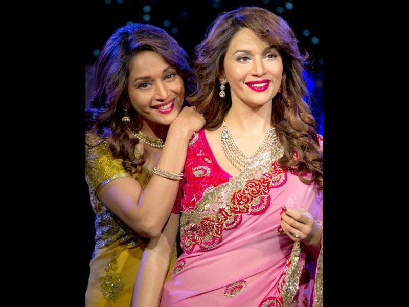 Madhuri has become the sixth Bollywood celebrity to be honoured with a wax likeness by Madame Tussauds, London.