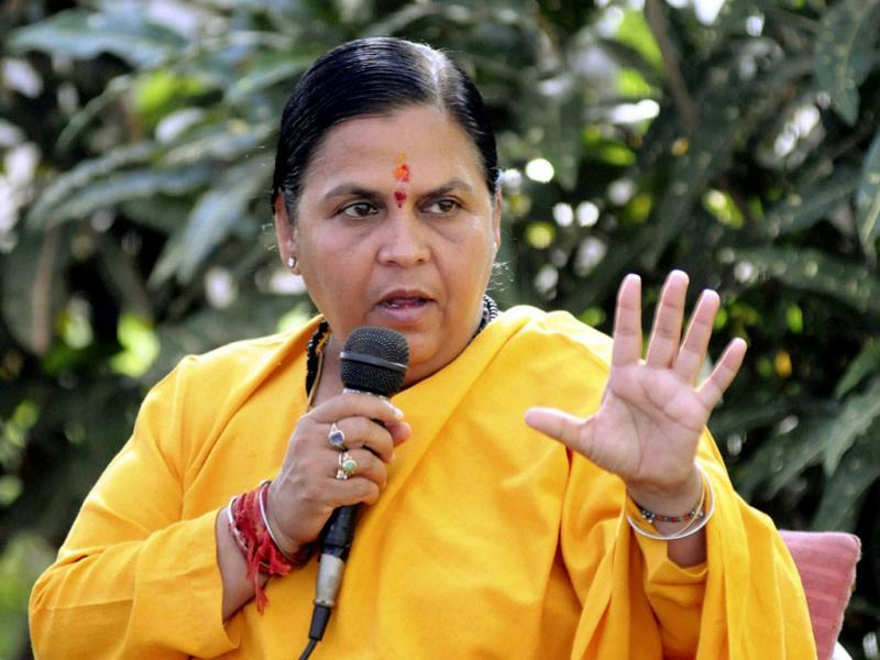 Special Task Force may soon question Uma Bharti on her alleged role in contract teachers' recruitment scam in 2013, sources said on Wednesday. (PTI photo)