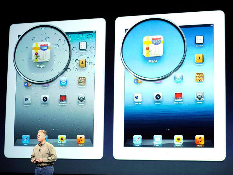 Apple senior VP of Worldwide Marketing Phil Schiller talks about the display on the new iPad during an Apple product launch event at Yerba Buena Center for the Arts in San Francisco, California. AFP Photo