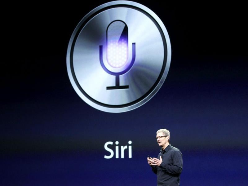 Apple CEO Tim Cook talks about Siri during an event in San Francisco, California. Reuters/Robert Galbraith