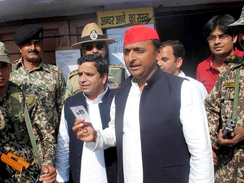 An MP from Kannauj, Akhilesh is largely seen as a game changer in UP politics and credited with the massive mandate in favour of the party in the assembly polls. (Agencies Photo)