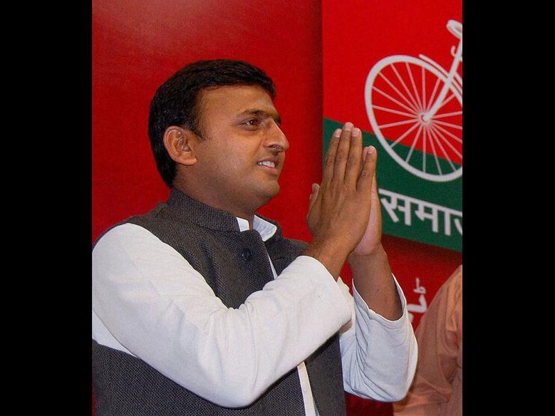 Akhilesh Yadav played a leading role in shedding SP's image of being anti-English and anti-computers and also in denying tickets to candidates with criminal antecedents. (Agencies photo)