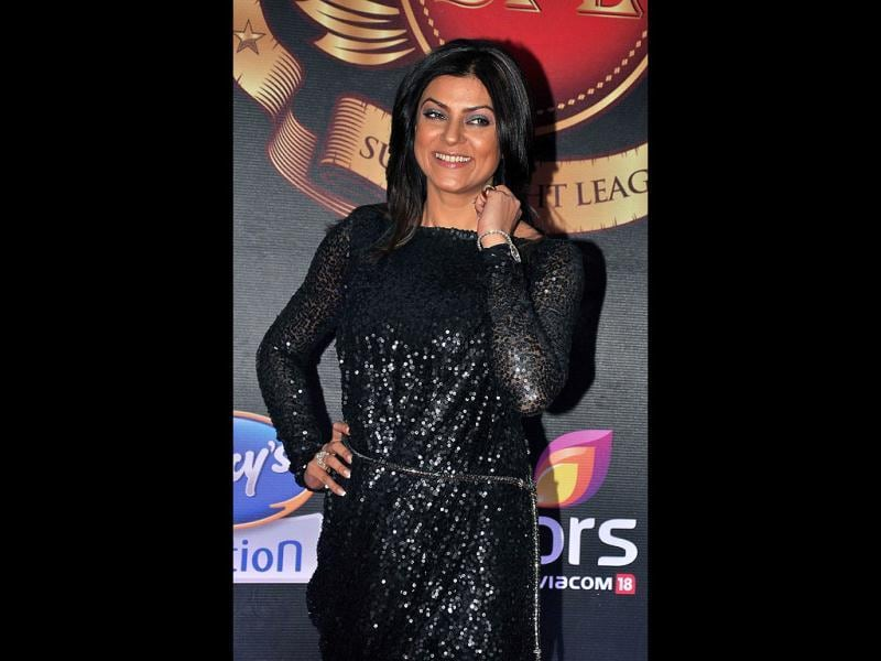 The gorgeous Sushmita Sen was also spotted at the event. (AFP Photo)
