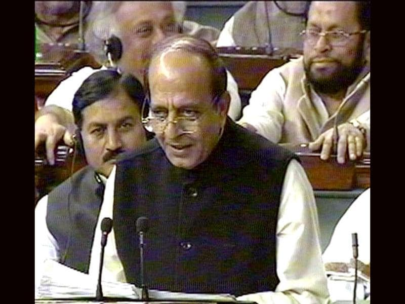A TV grab of Dinesh Trivedi while he presents the Rail Budget.