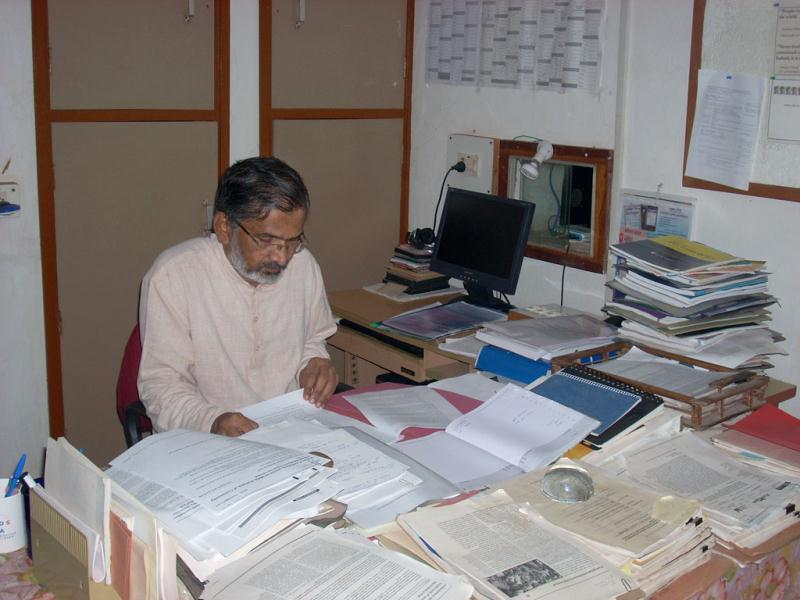 Abhay Bang, the founder of Society for Education Action and Research (SEARCH) in his office. Photograph by Pramit Bhattacharya
