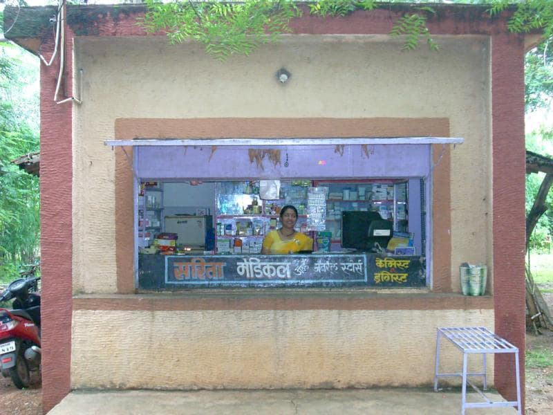The pharmacy at Shodhgram. Photograph by Pramit Bhattacharya