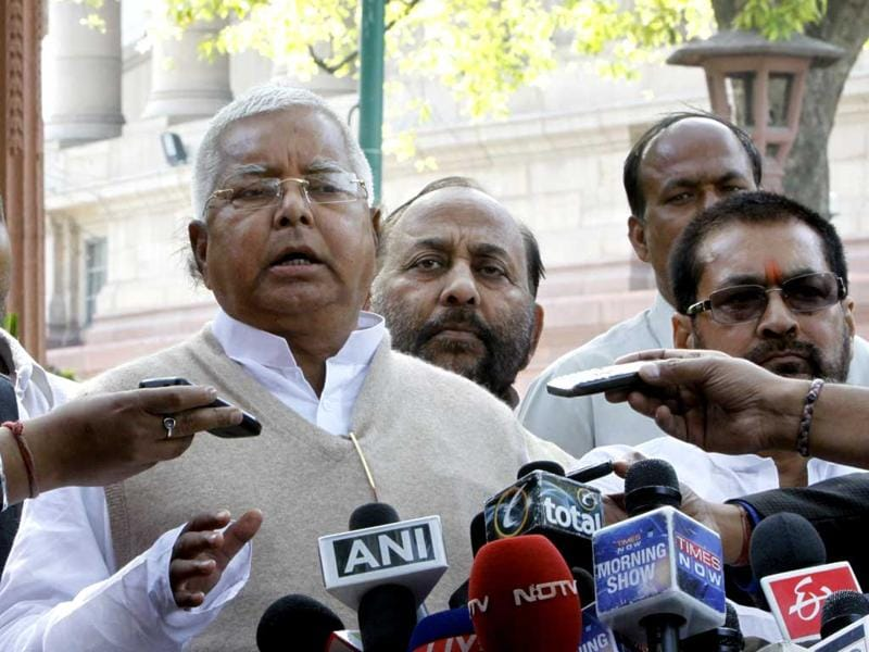 Fare hike will not bail out Indian Railways: Lalu Prasad Yadav (former railway minister). HT Photo/Sonu Mehta