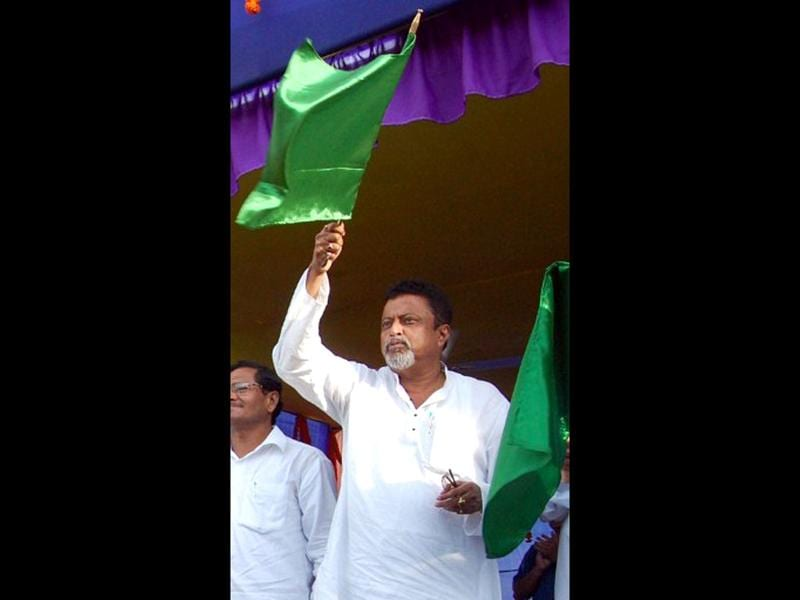 Mukul Roy, the general secretary of Trinamol Congress, is tipped to replace Dinesh Trivedi as the railway minister. (AFP Photo)