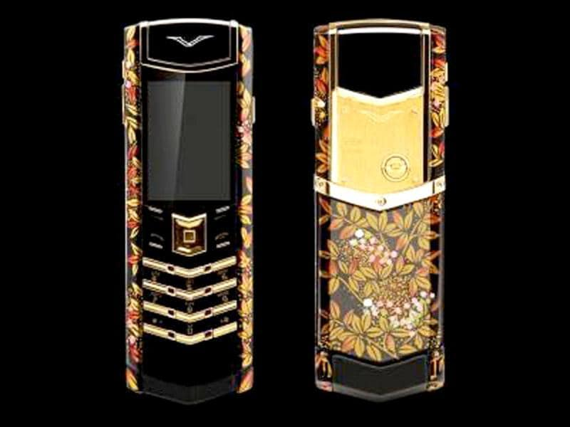 Vertu Signature: Nokia's Vertu has carved a niche for itself in the luxury phone marketwith its Vertu Signature collection. This handcrafted phone is embedded with diamonds and costs up to $81,000.