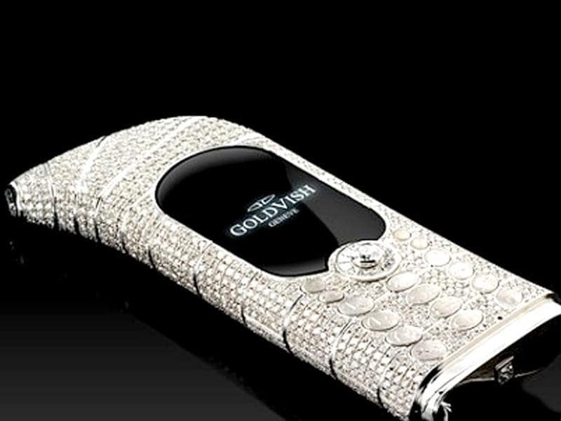 GoldVish 'Le Million' Piece Unique: Often referred to as the world's most expensive phone at $1.3 million, this designer phone is bejeweled with 18k white gold and 20 carats of VVS1 diamonds.