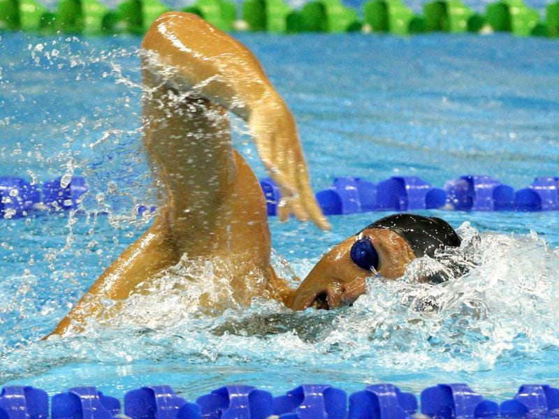Australia's Ian Thorpe swims during the men's 200m Freestyle heats at the 2012 Australian Swimming Championships to qualify for the 2012 London Olympics, in Adelaide. Reuters/Regi Varghese