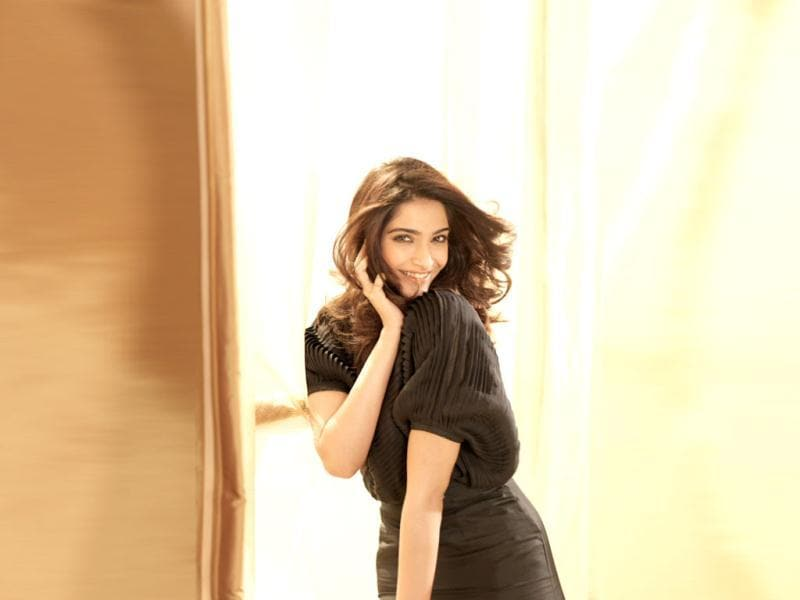 Beautiful Sonam Kapoor poses for the camera.