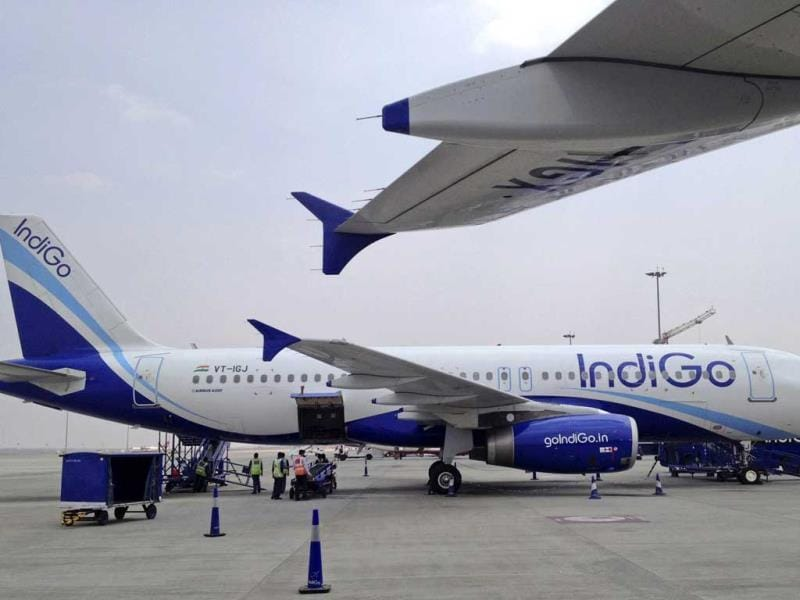 A file photo of IndiGo Airlines A320 aircraft parked on the tarmac at Bengaluru International Airport in Bangalore. (Reuters Photo)