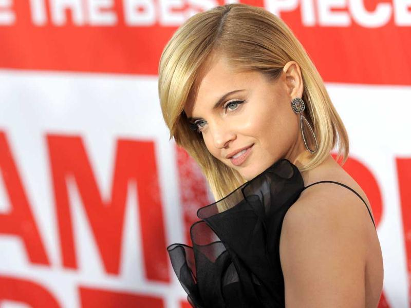 Cast member Mena Suvari poses at the event. (AP Photo)