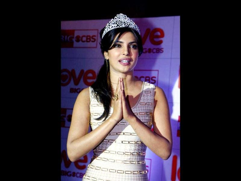 Priyanka Chopra poses a namaste. (AFP Photo)