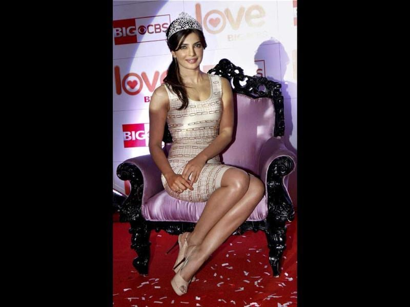 Bollywood actor Priyanka Chopra was titled Big CBS Love's India's Glam Diva. (PTI Photo)